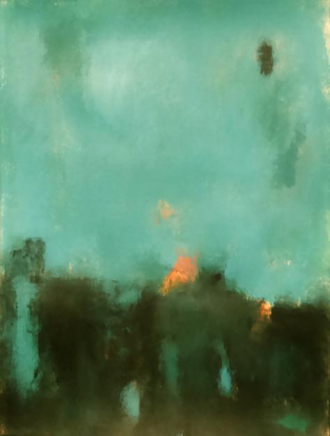 Emerald field |Pintura de Luis Medina | Compra arte en Flecha.es