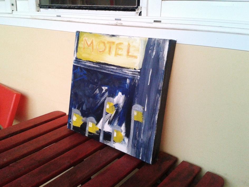 Motel   Pintura de Josemi Campaña   Compra arte en Flecha.es
