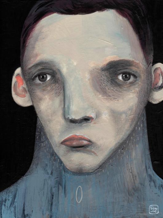 El hombre que espera |Ilustración de Bran Sólo | Compra arte en Flecha.es