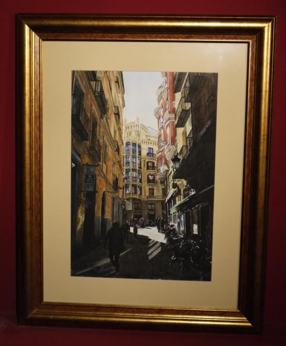 desde San Ginés a la calle Mayor, Madrid   Pintura de Pedro Higueras   Compra arte en Flecha.es