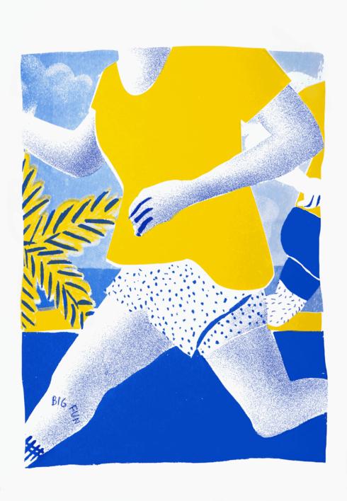 BIG FUN |Ilustración de Mar Estrama | Compra arte en Flecha.es