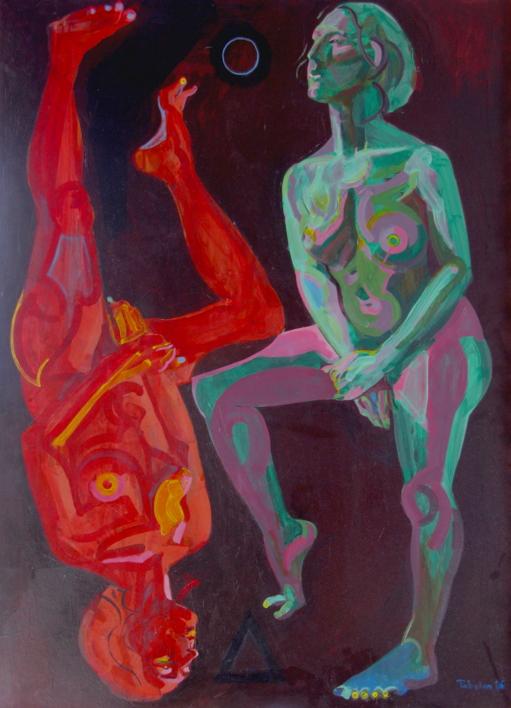 Agua y fuego |Pintura de Nader | Compra arte en Flecha.es