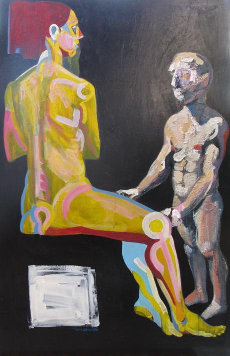 El inadvertido |Pintura de Nader | Compra arte en Flecha.es