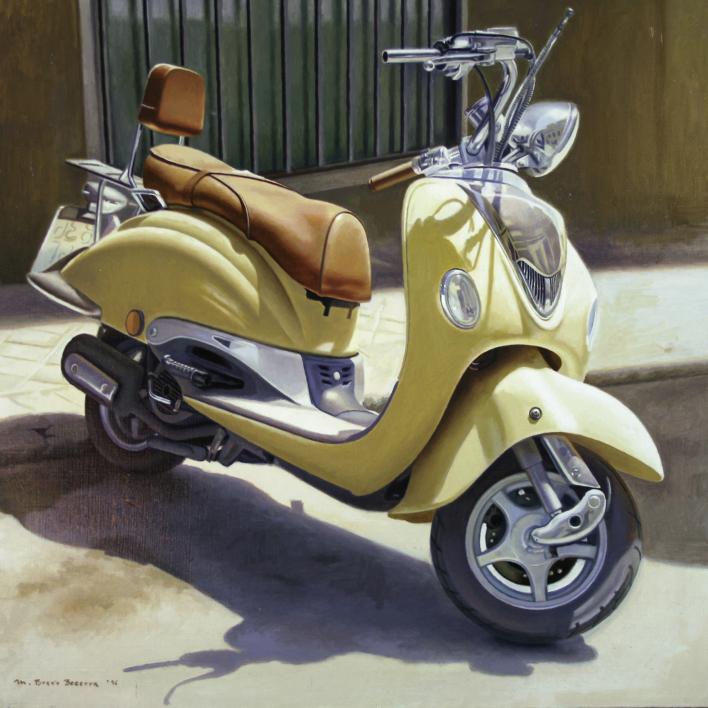 motocicleta |Pintura de MBravoBecerra | Compra arte en Flecha.es
