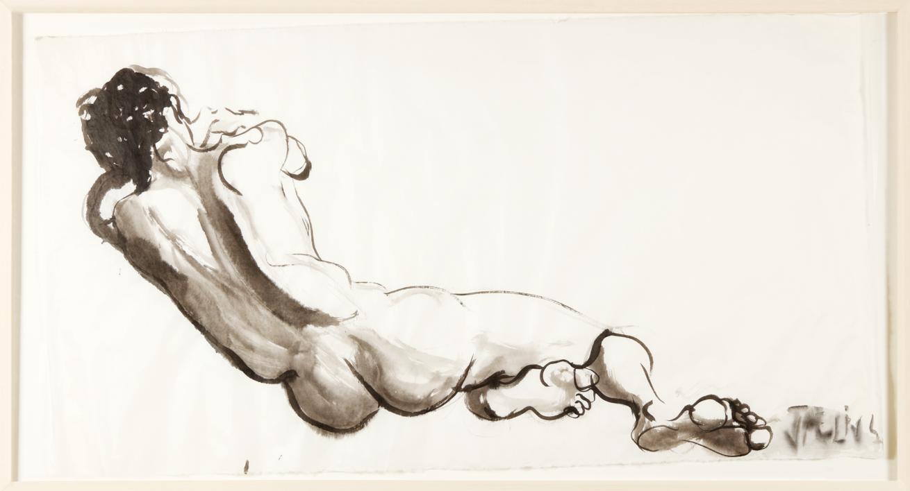 De Espaldas |Dibujo de Jaelius Aguirre | Compra arte en Flecha.es