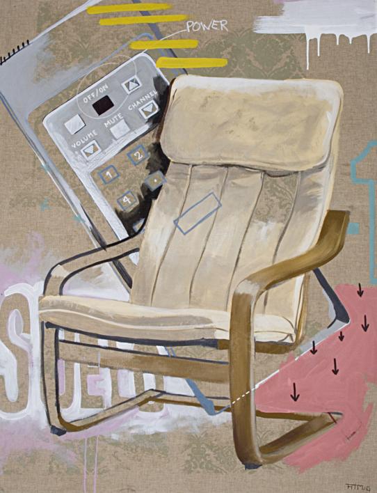 El primer sofá de casa |Dibujo de Alejandra de la Torre | Compra arte en Flecha.es