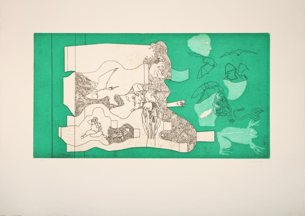 Bambino Pipistrelli |Obra gráfica de Jorge Castillo | Compra arte en Flecha.es