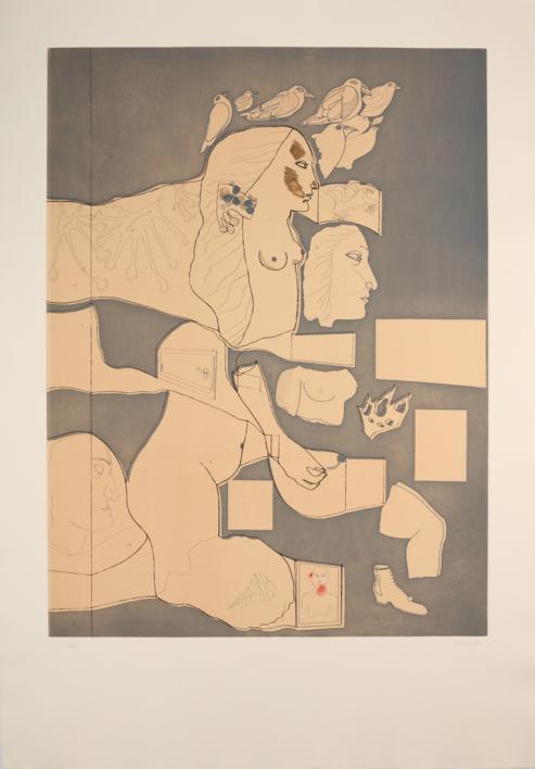 Marienza Recortada |Obra gráfica de Jorge Castillo | Compra arte en Flecha.es