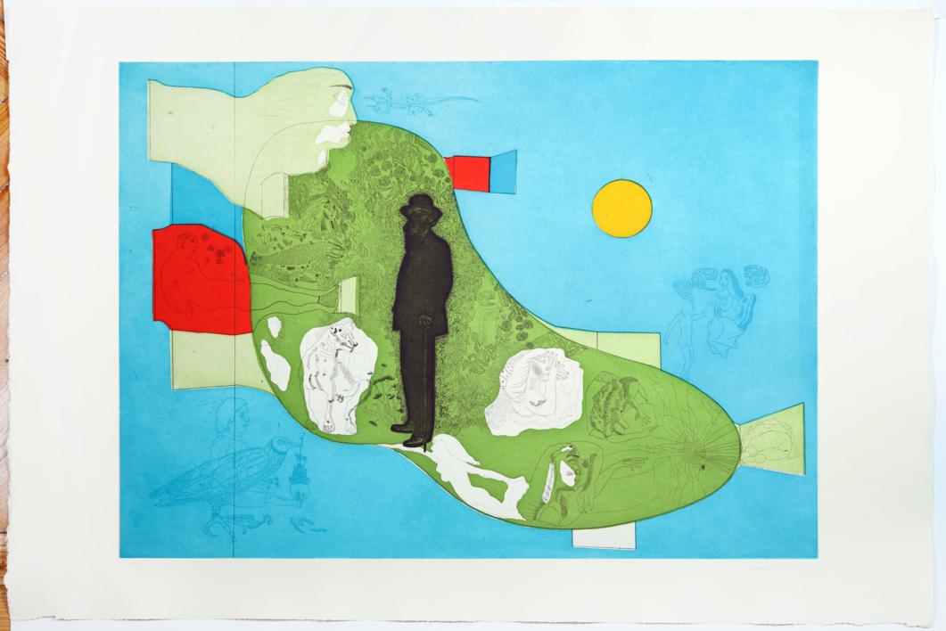 Don Ramón |Obra gráfica de Jorge Castillo | Compra arte en Flecha.es