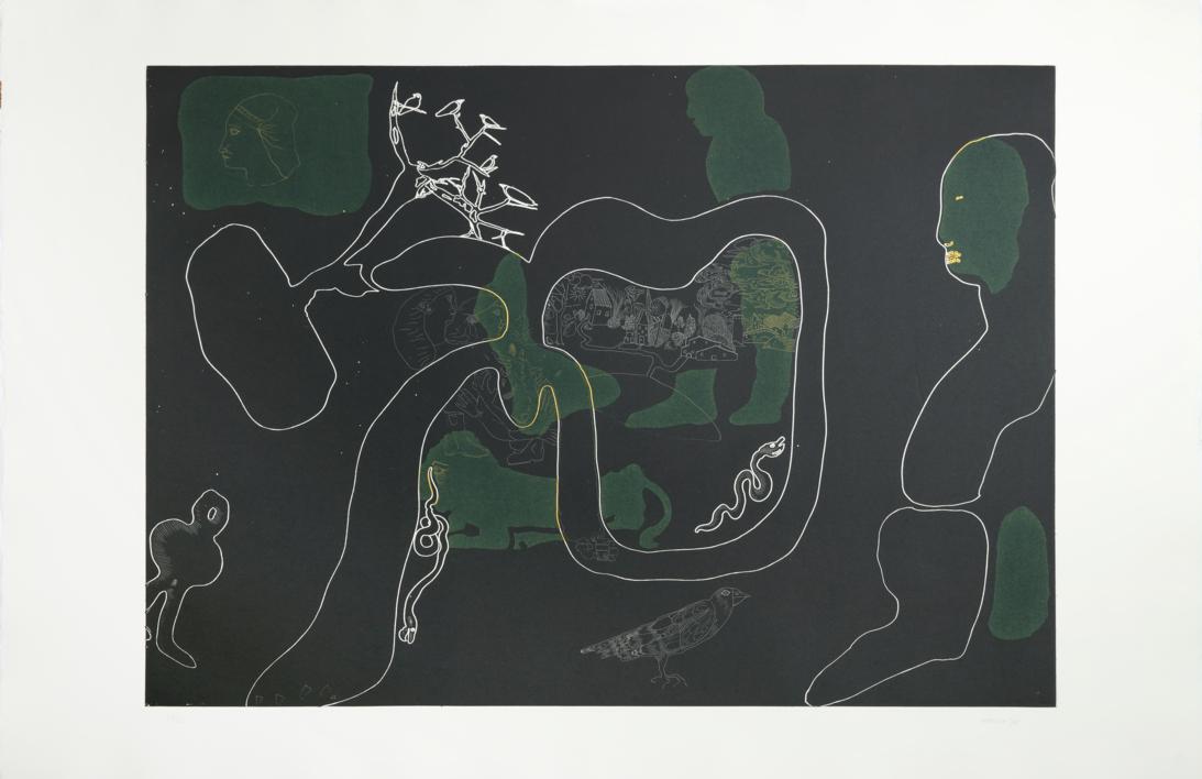 Olga en el campo |Obra gráfica de Jorge Castillo | Compra arte en Flecha.es