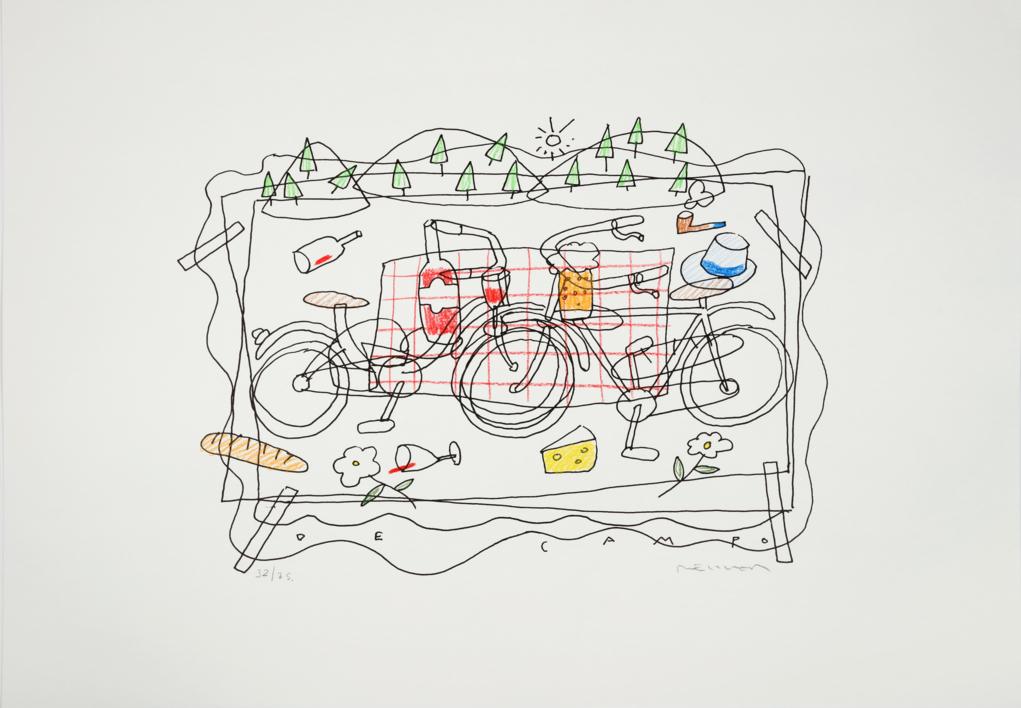 De campo |Dibujo de Fernando Bellver | Compra arte en Flecha.es