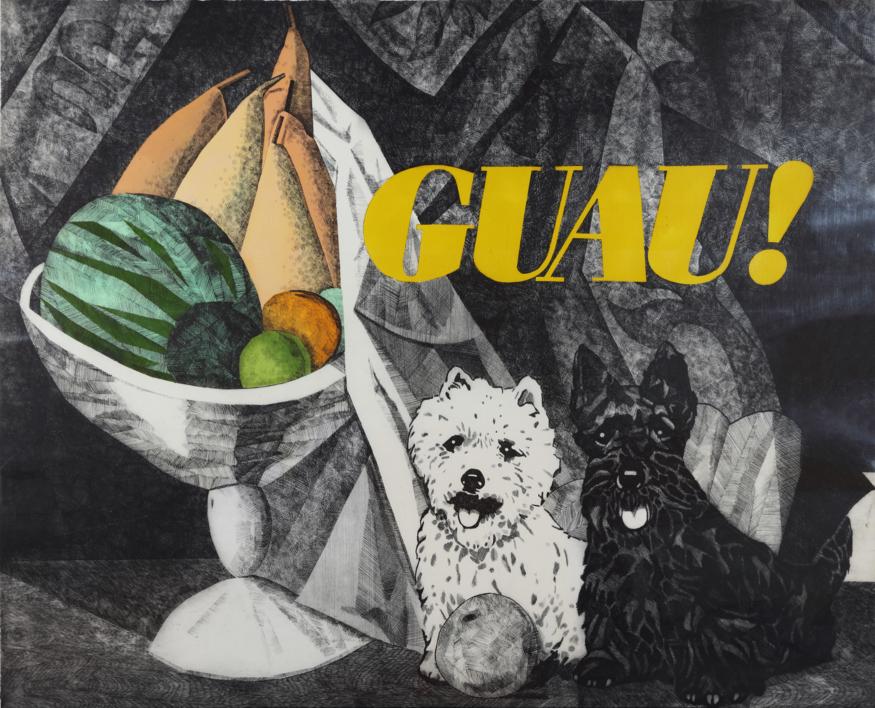 Serie Desayunos: ¡GUAU! |Obra gráfica de Fernando Bellver | Compra arte en Flecha.es