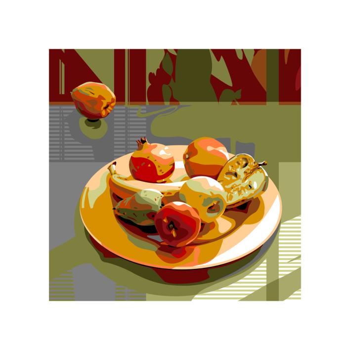 Plato con fruta |Digital de Beatriz Ujados | Compra arte en Flecha.es