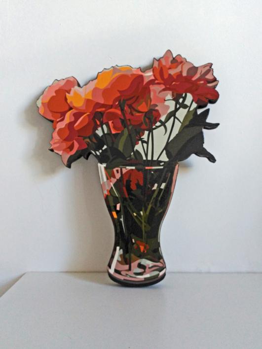 Rosas |Escultura de pared de Beatriz Ujados | Compra arte en Flecha.es