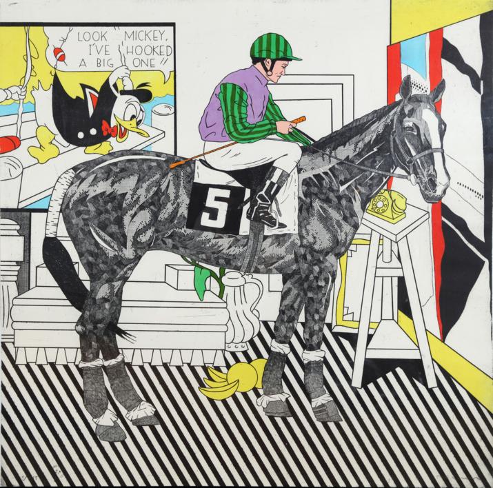 Serie Historia de una Carrera: Lichtenstein  Obra gráfica de Fernando Bellver   Compra arte en Flecha.es