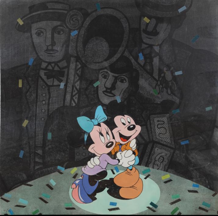 Mickey y Minnie  Obra gráfica de Fernando Bellver   Compra arte en Flecha.es