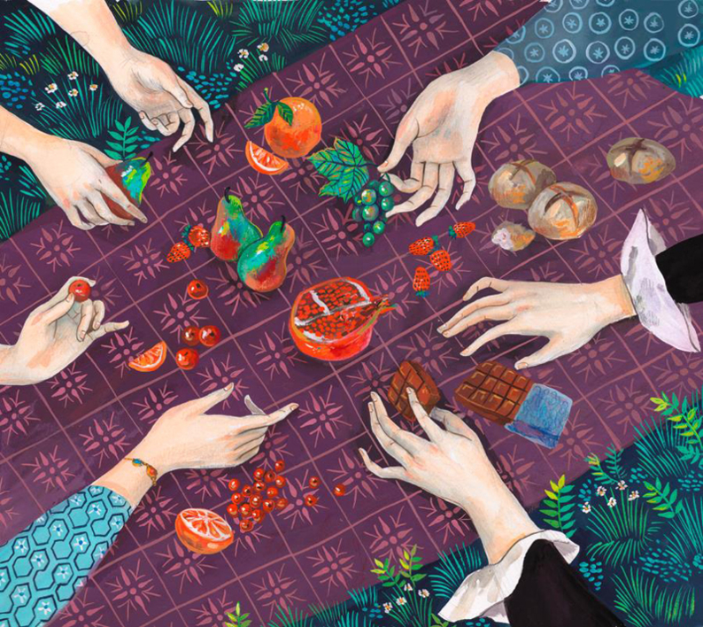 Picnic en Combray |Dibujo de Helena Perez Garcia | Compra arte en Flecha.es