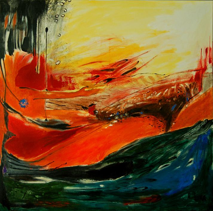 EL DESEO |Pintura de Lika | Compra arte en Flecha.es