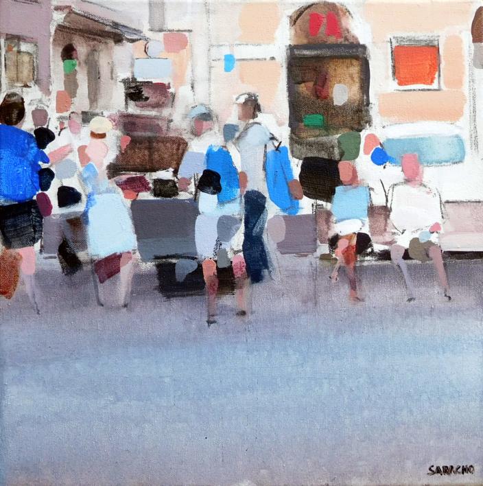 Attesa sul mercato |Pintura de Saracho | Compra arte en Flecha.es