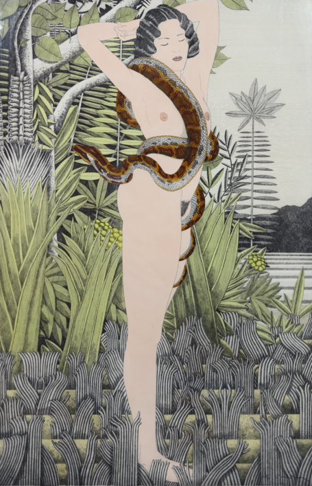 Serie Desnudos: Rousseau |Obra gráfica de Fernando Bellver | Compra arte en Flecha.es