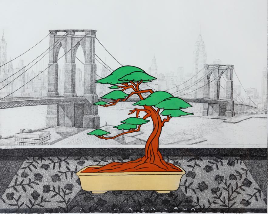 New York dede el Hotel Cumberland |Obra gráfica de Fernando Bellver | Compra arte en Flecha.es