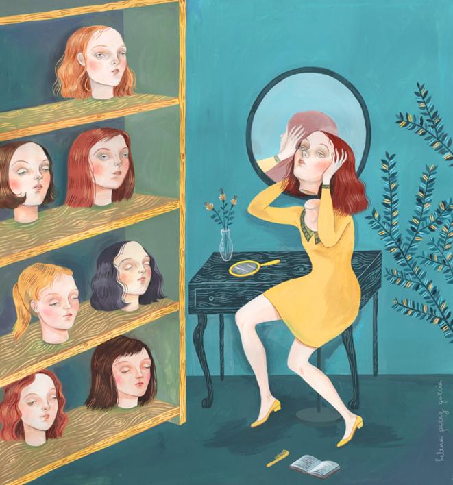 El Tocador |Dibujo de Helena Perez Garcia | Compra arte en Flecha.es