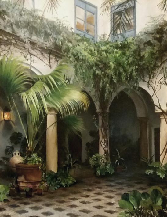 Patio en Cordoba |Pintura de Carmen Nieto | Compra arte en Flecha.es