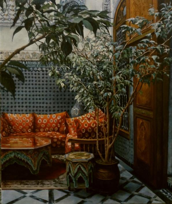 Riad  en Fez |Pintura de Carmen Nieto | Compra arte en Flecha.es
