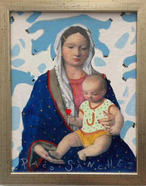 Virgen Guapa de los osos amorosos |Pintura de Paco Sánchez | Compra arte en Flecha.es