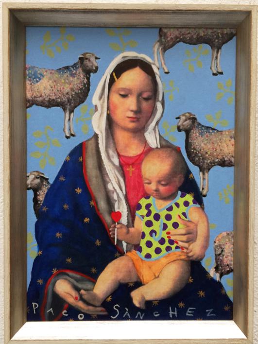 Virgen Guapa a lo Divina Pastora |Pintura de Paco Sánchez | Compra arte en Flecha.es
