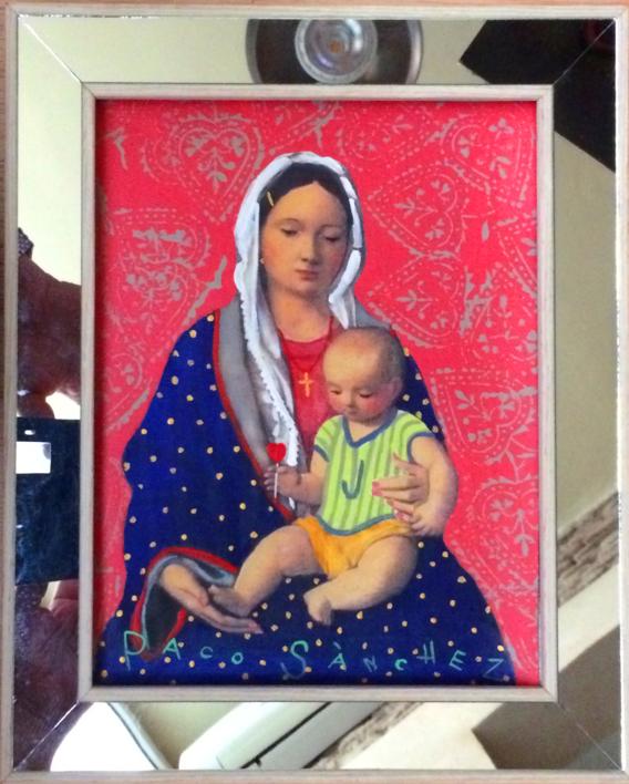 Virgen Guapa de Paloma |Pintura de Paco Sánchez | Compra arte en Flecha.es