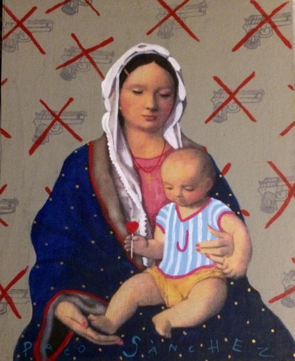 Virgen Guapa de la paz |Pintura de Paco Sánchez | Compra arte en Flecha.es
