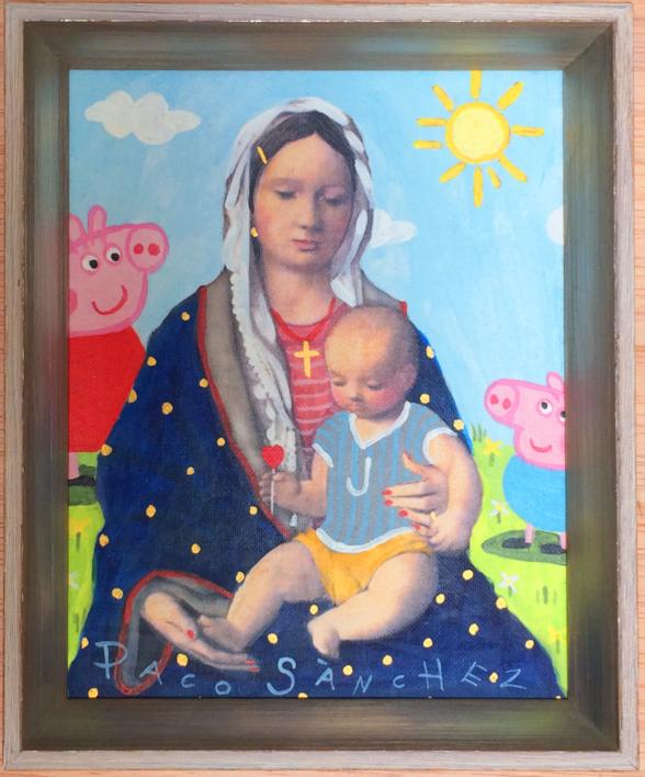 Virgen Guapa para los pequeñitos de la casa |Pintura de Paco Sánchez | Compra arte en Flecha.es