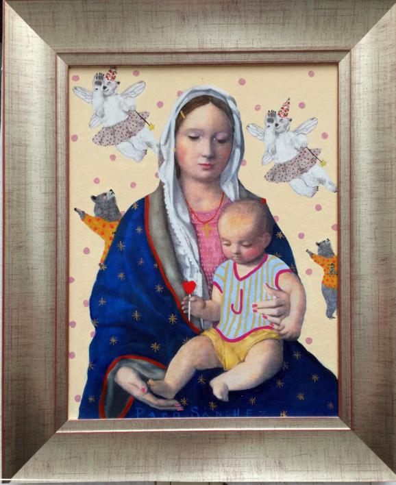 Virgen Guapa de la magia |Pintura de Paco Sánchez | Compra arte en Flecha.es