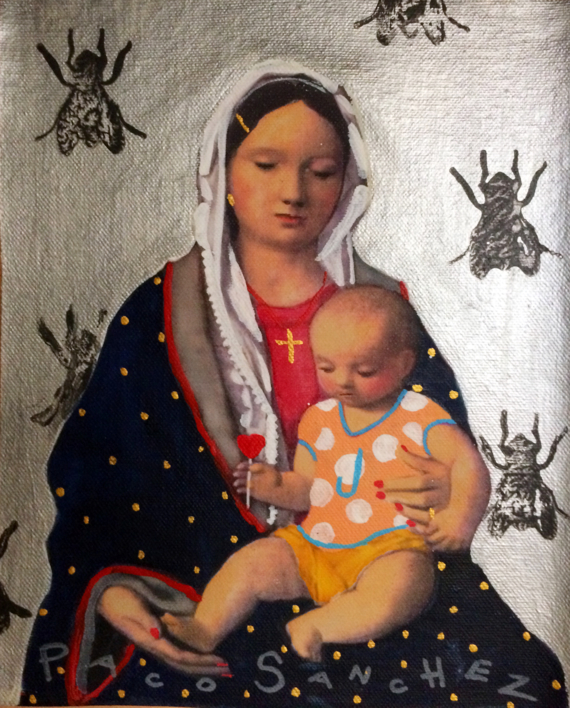 Virgen Guapa de los animales que no le gustan a nadie  Pintura de Paco Sánchez   Compra arte en Flecha.es