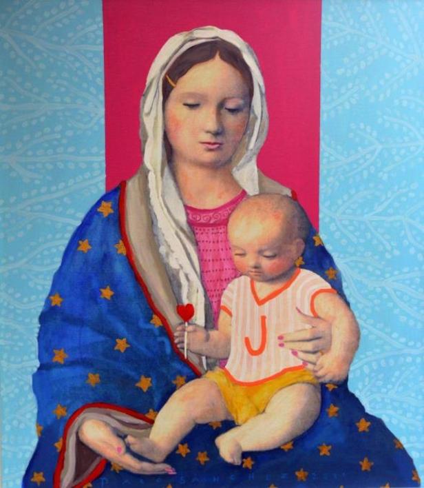 virgen Guapa de Mamá |Pintura de Paco Sánchez | Compra arte en Flecha.es