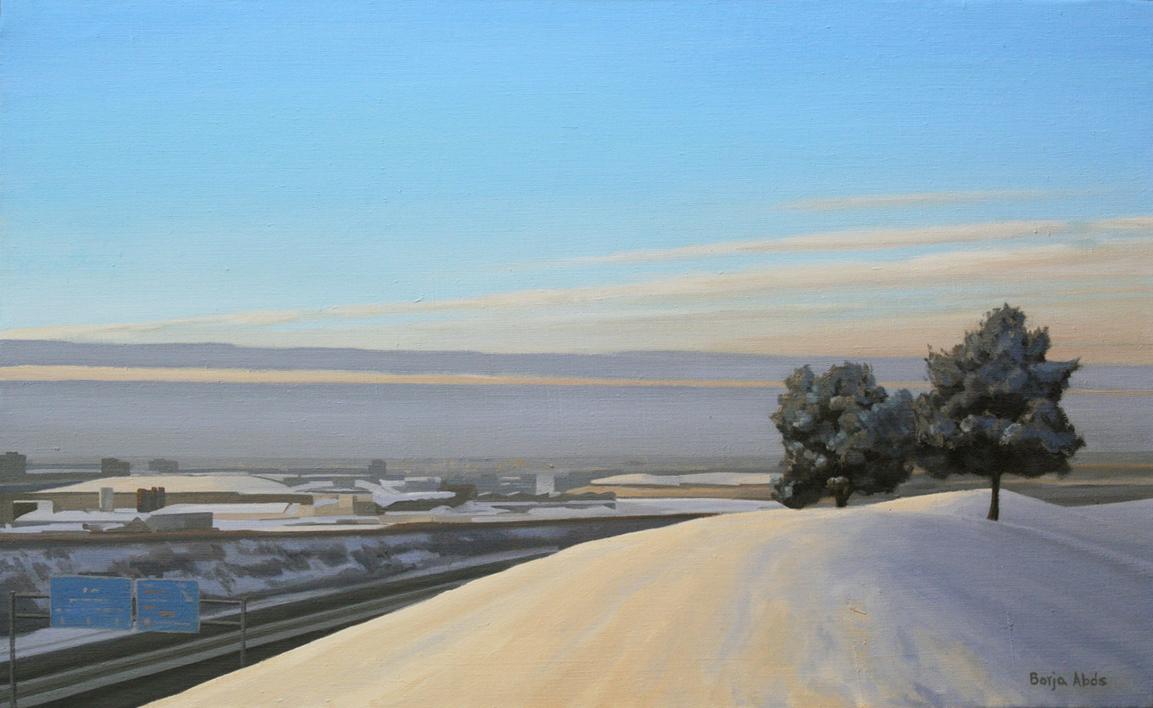 Nieve |Pintura de Borja Abós | Compra arte en Flecha.es