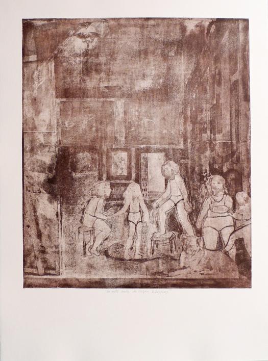 Un rato antes de llegar Velázquez |Obra gráfica de Ana Valenciano | Compra arte en Flecha.es