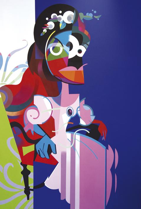 Isabel sentada |Pintura de Jose Palacios | Compra arte en Flecha.es