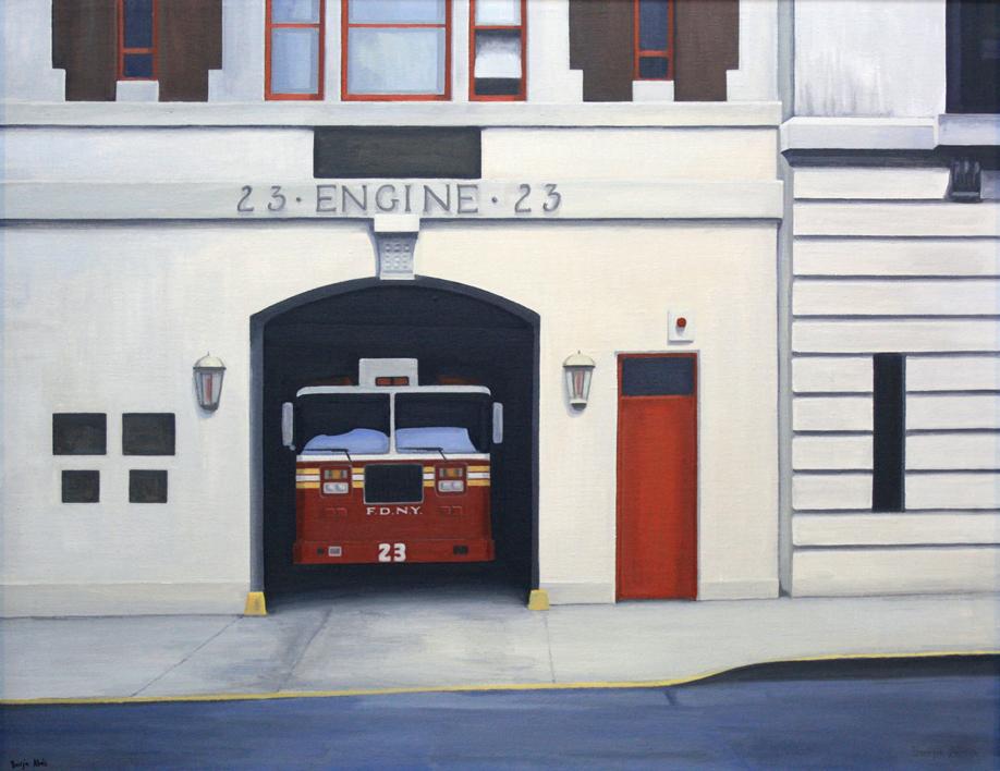 Bomberos 23 |Pintura de Borja Abós | Compra arte en Flecha.es