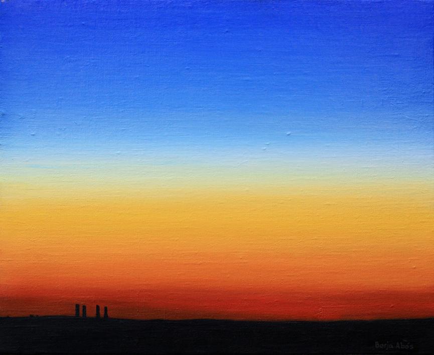 Anochecer |Pintura de Borja Abós | Compra arte en Flecha.es