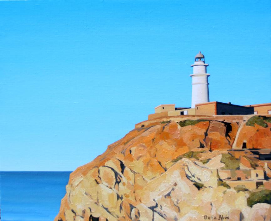 Faro de Cabo de Gata |Pintura de Borja Abós | Compra arte en Flecha.es
