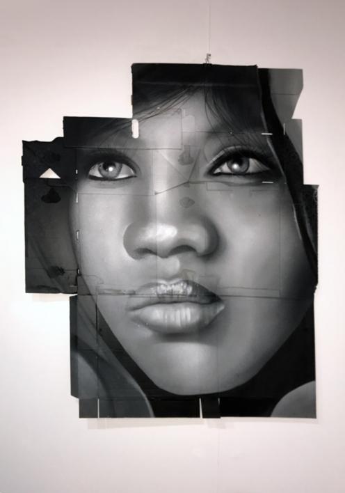Retrato anónimo  Pintura de ASIER   Compra arte en Flecha.es