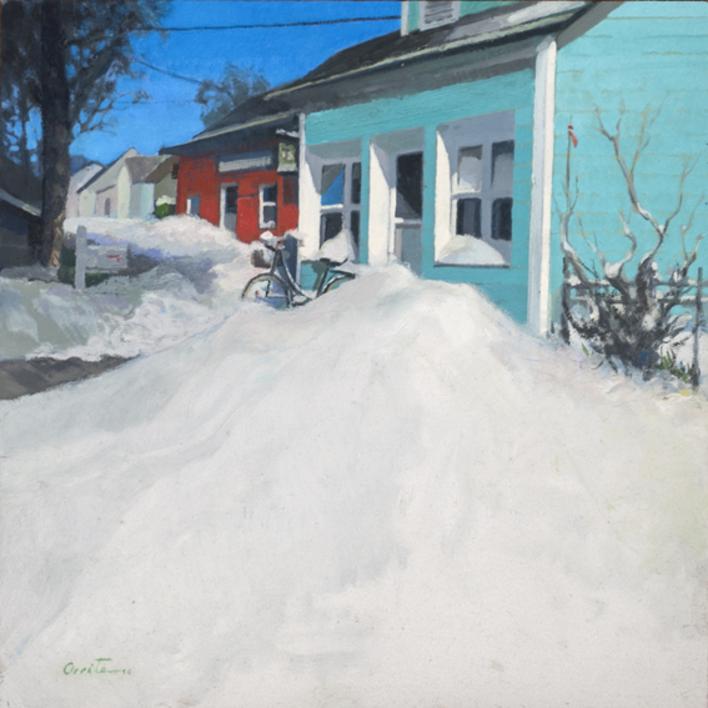 Amanece nevado |Pintura de Orrite | Compra arte en Flecha.es