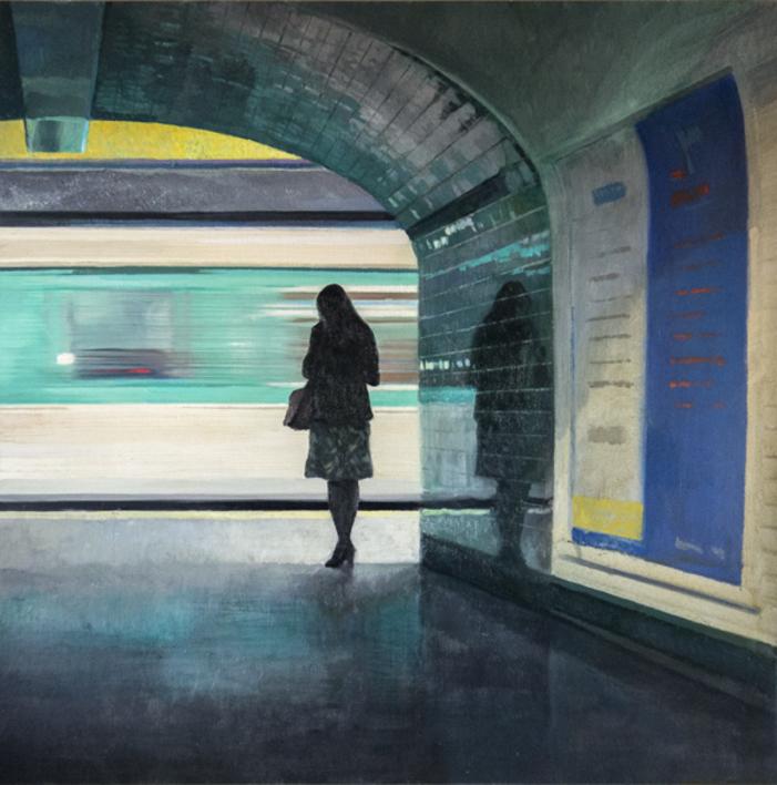 Pasando el tren |Pintura de Orrite | Compra arte en Flecha.es