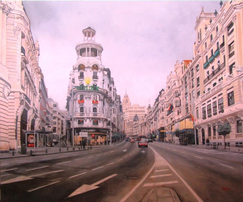 Gran Vía |Pintura de Pablo Orduña | Compra arte en Flecha.es