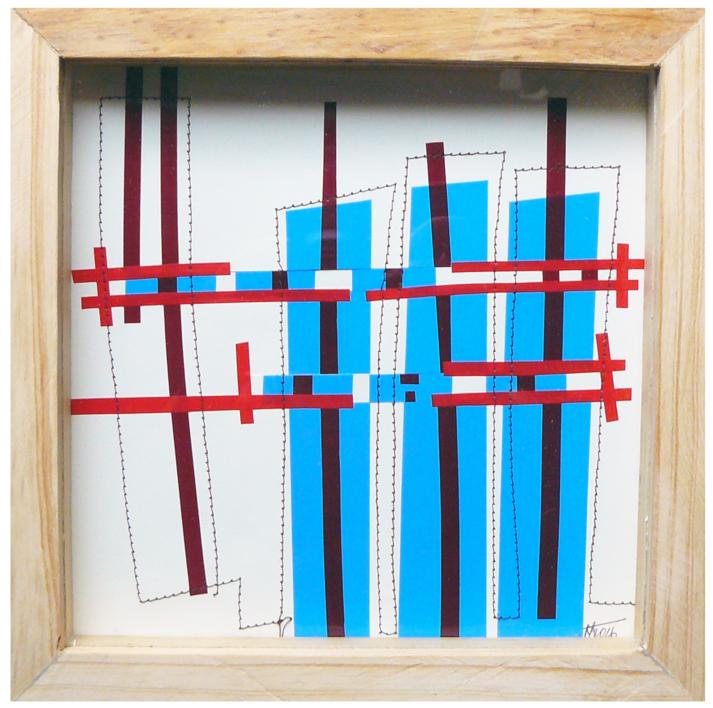 No pixel azul |Collage de Fabiana Zapata | Compra arte en Flecha.es