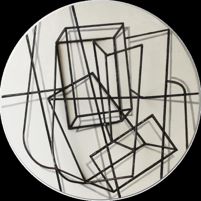 Constelación sobre blanco  Escultura de pared de Manuel Sánchez-Algora   Compra arte en Flecha.es