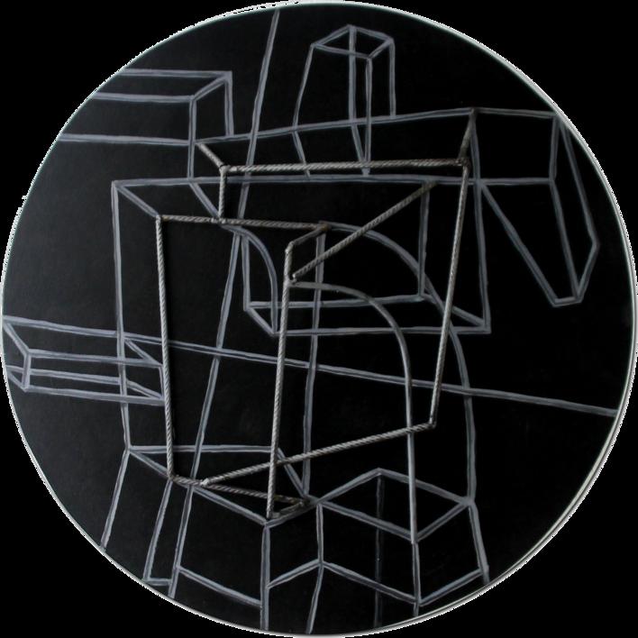 Constelación sobre negro |Escultura de pared de Manuel Sánchez-Algora | Compra arte en Flecha.es