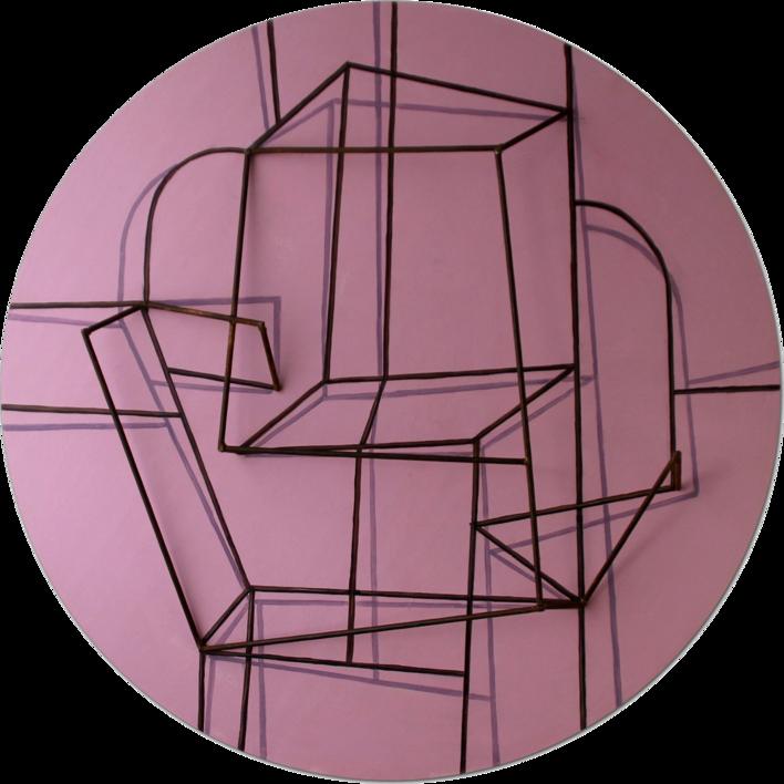 Constelación sobre  rosa |Escultura de pared de Manuel Sánchez-Algora | Compra arte en Flecha.es